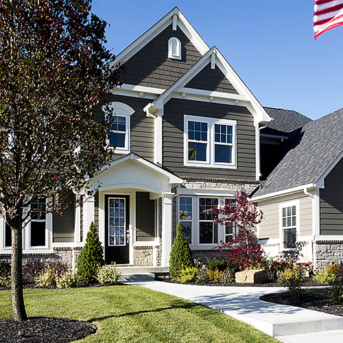 Adding Stately Curb Appeal to an Entry
