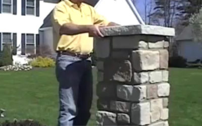 Installing Nu-Wood Masonry Columns is about as easy as it gets